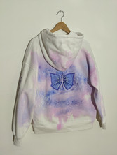 My hand-painted hoodie for Ania Boniecka