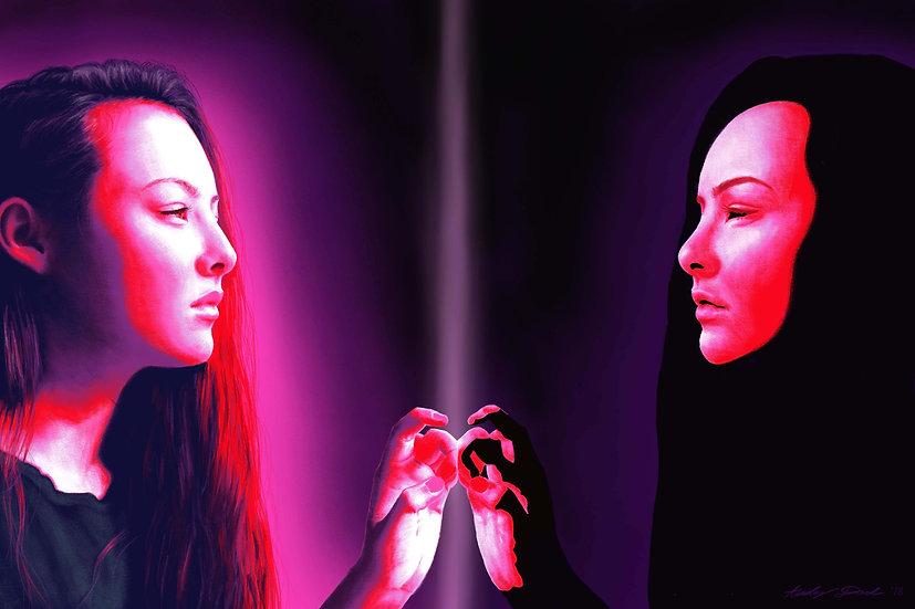 Meeting My Shadow (digital print, open edition)