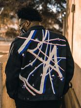 Collaboration with RIFF brand- Jacket for Calgary entrepreneur Beni Jay