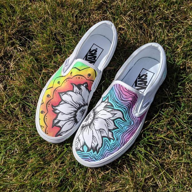 Hippie themed Vans
