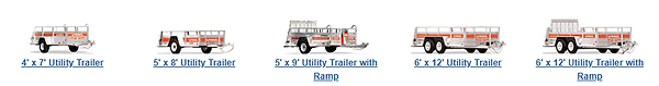 Picutre of U-haul uitility Trailers for rent with Patriot RV and Storaage in Midlothin TX