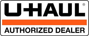This image shows the Uhaul logo with the words, authorized dealer
