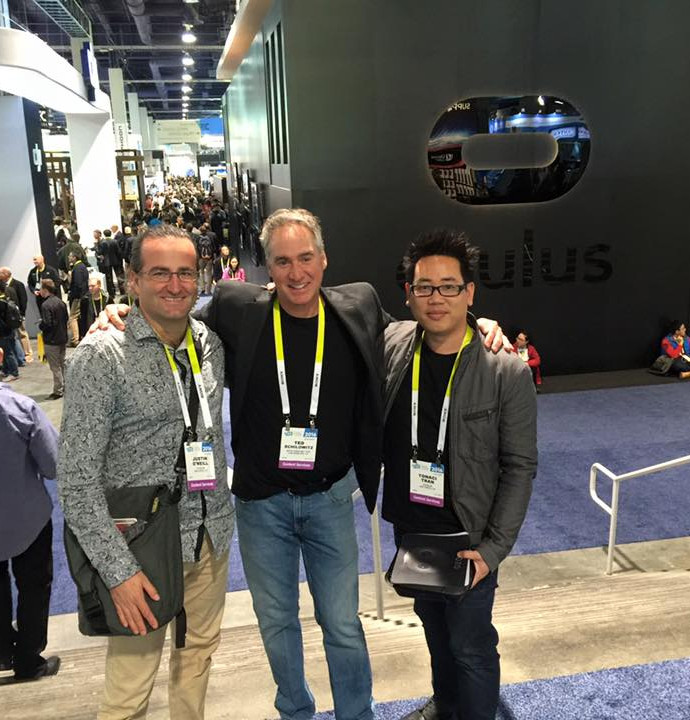The team at the Oculus booth at CES.