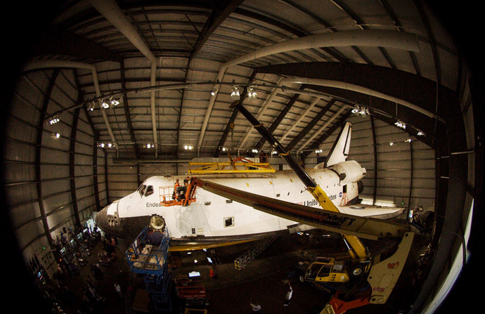 Shooting the Endeavour in 360°