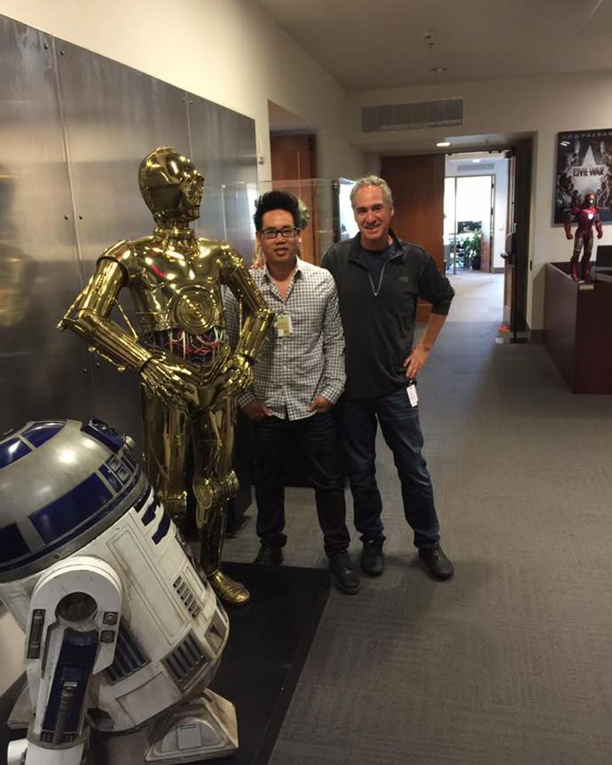 Lucas Film office visit.