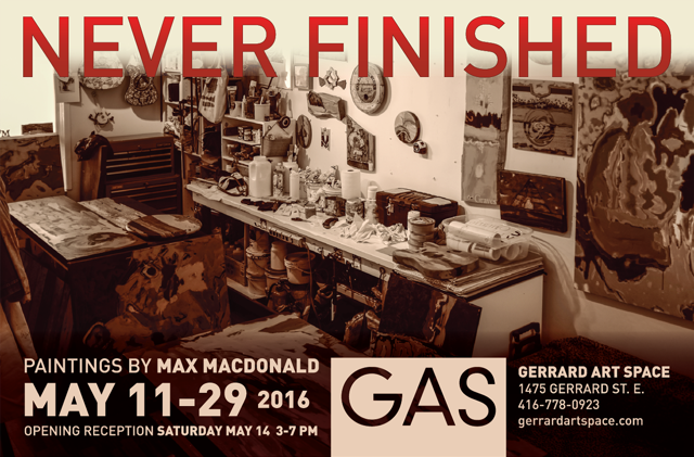 Max MacDonald: Never Finished, 2016