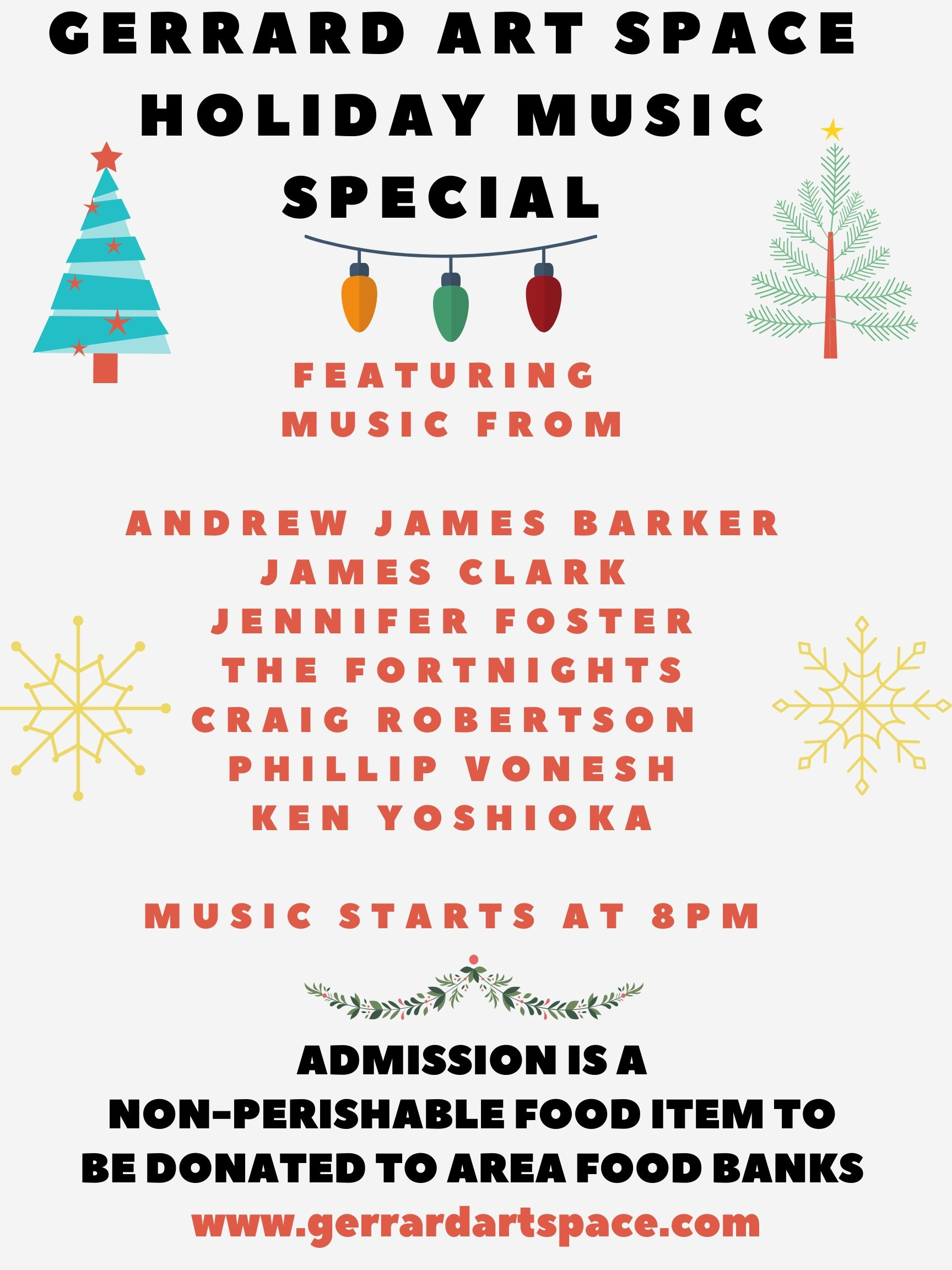 GERRARD ART SPACE HOLIDAY MUSIC SPECIAL-