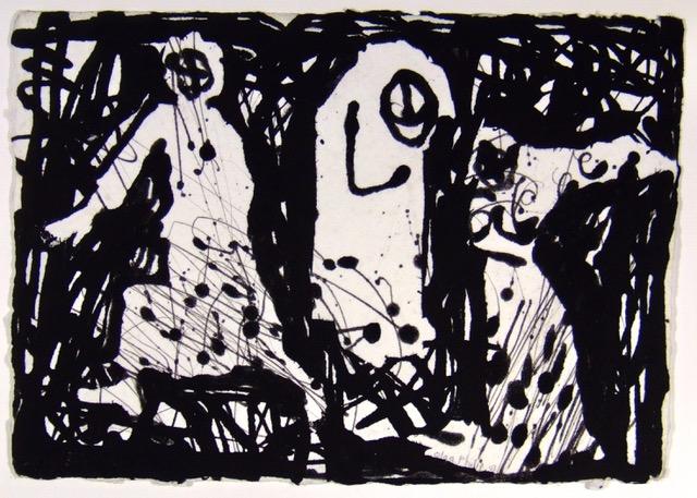 10. Inner Rhythms, Handmade paper, stencils and pulp painting, 23.4 x 33 cm, 2007