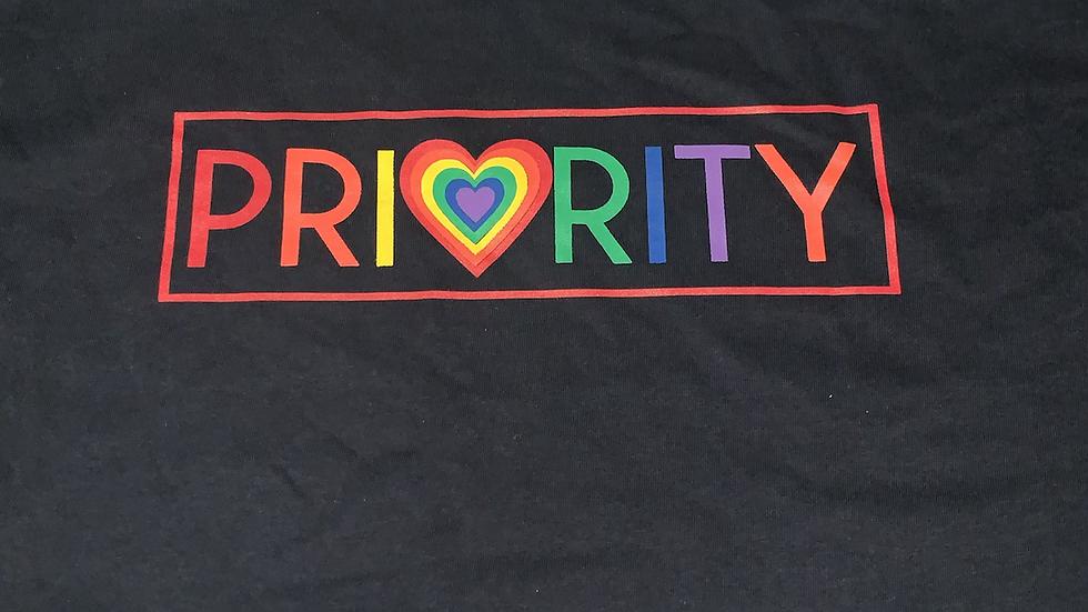 PRIORITY 'Pride Month' T-shirt : Black