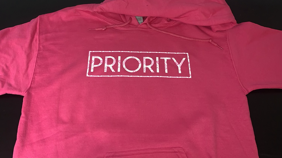 PRIORITY Hoodie : Breast Cancer Month Edition