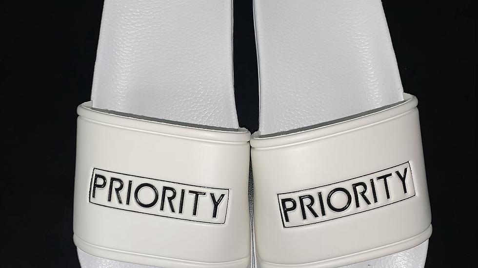 PRIORITY Slides : White w| Black words