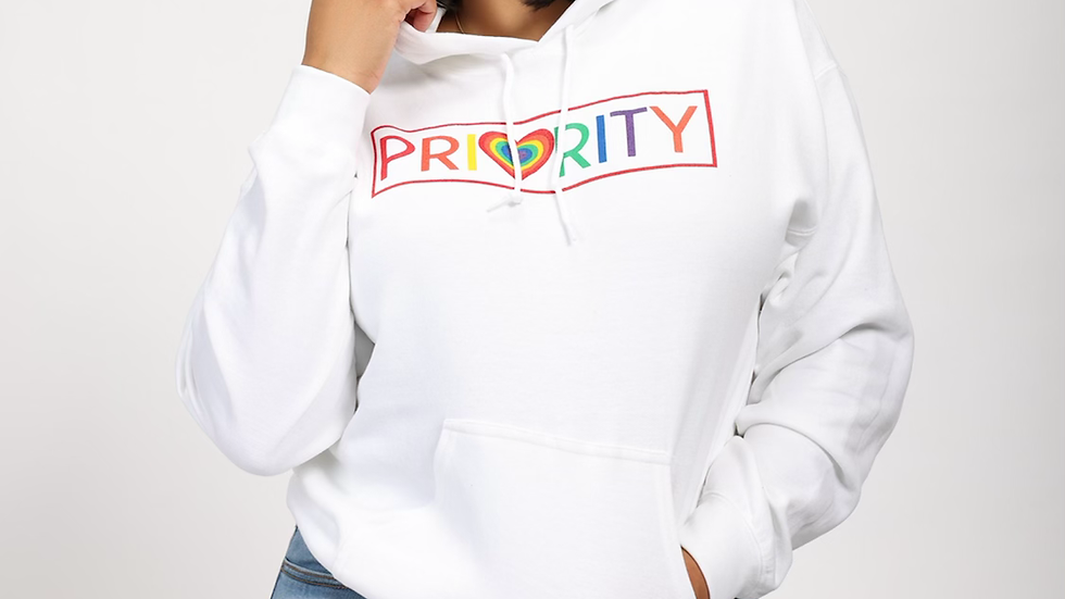 PRIORITY 'Pride Month' Hoodie : White