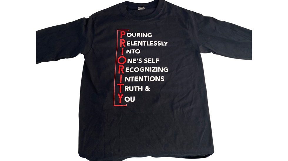 PRIORTY Meaning Long sleeve T-Shirt