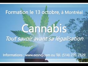 CANNABIS : tout savoir avant sa légalisation… Formation le 13 Octobre prochain
