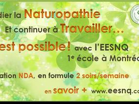 En reconversion professionnelle? devenez Naturopathe, avec nos cours du soir!