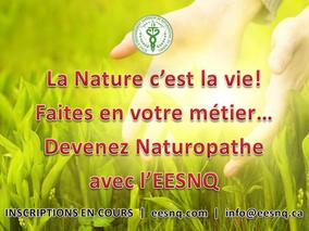 Devenez Naturopathe avec l'EESNQ, 1e école de Naturopathie à Montréal !