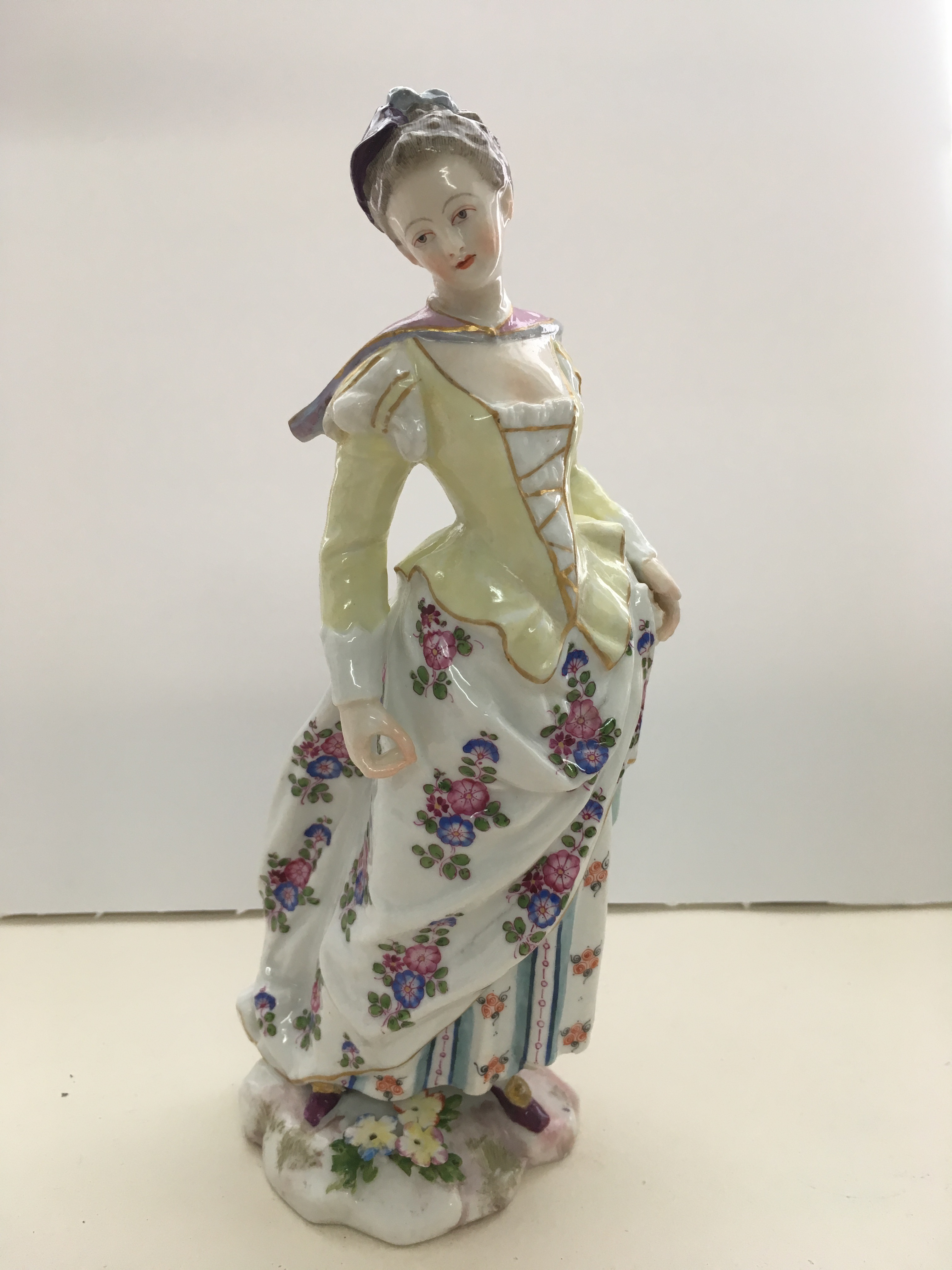 Meissen figure restored