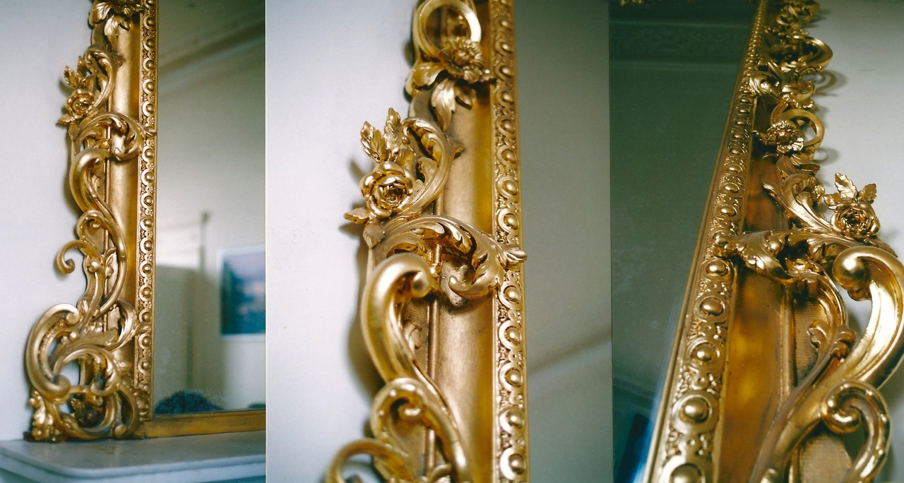 Regency Mirrors , oil gilded.