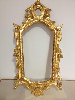 Maltese mirror frame re-gilded