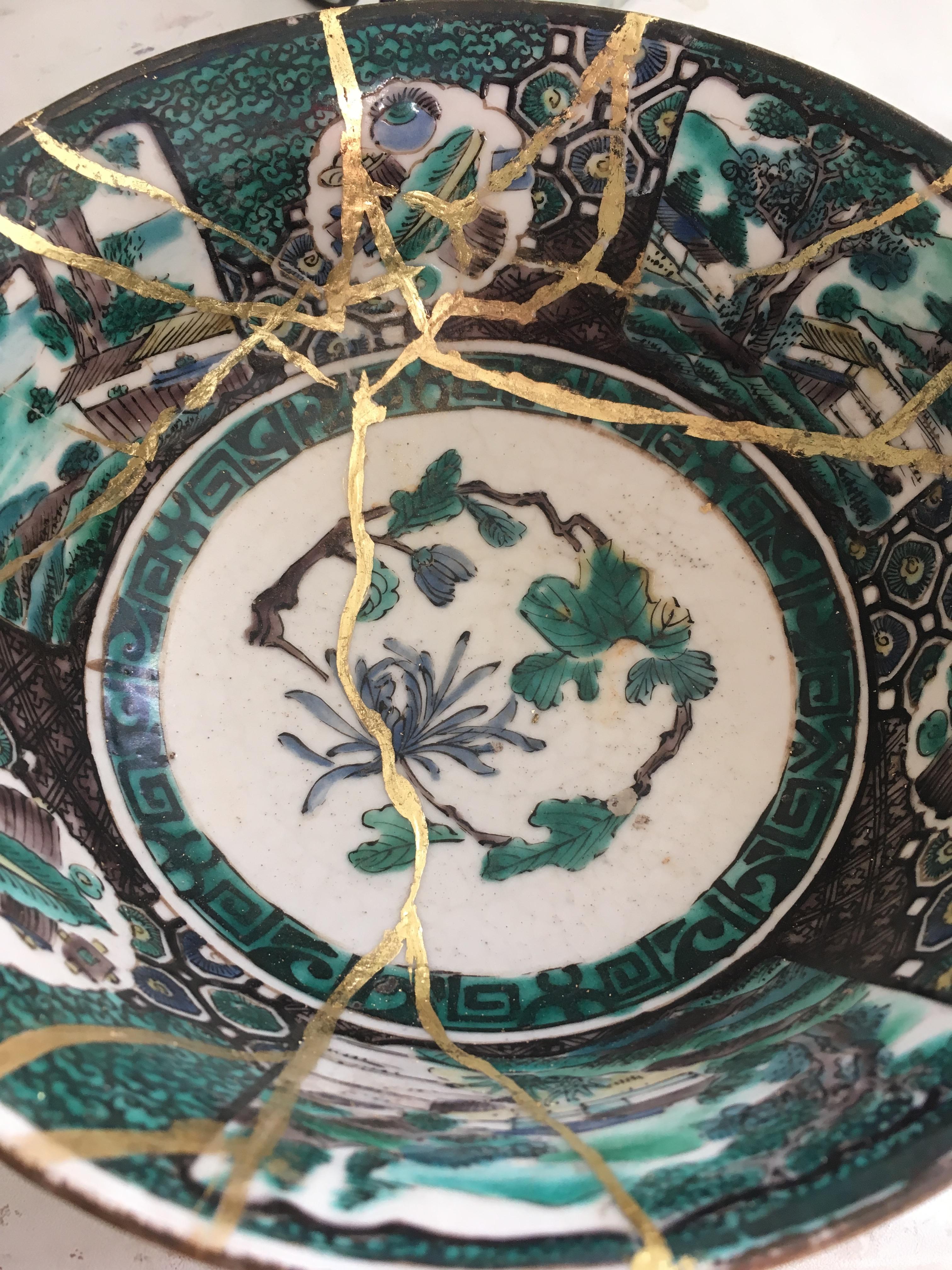 Kintsugi Style ceramic repair