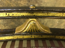 Decorative gilding detail.