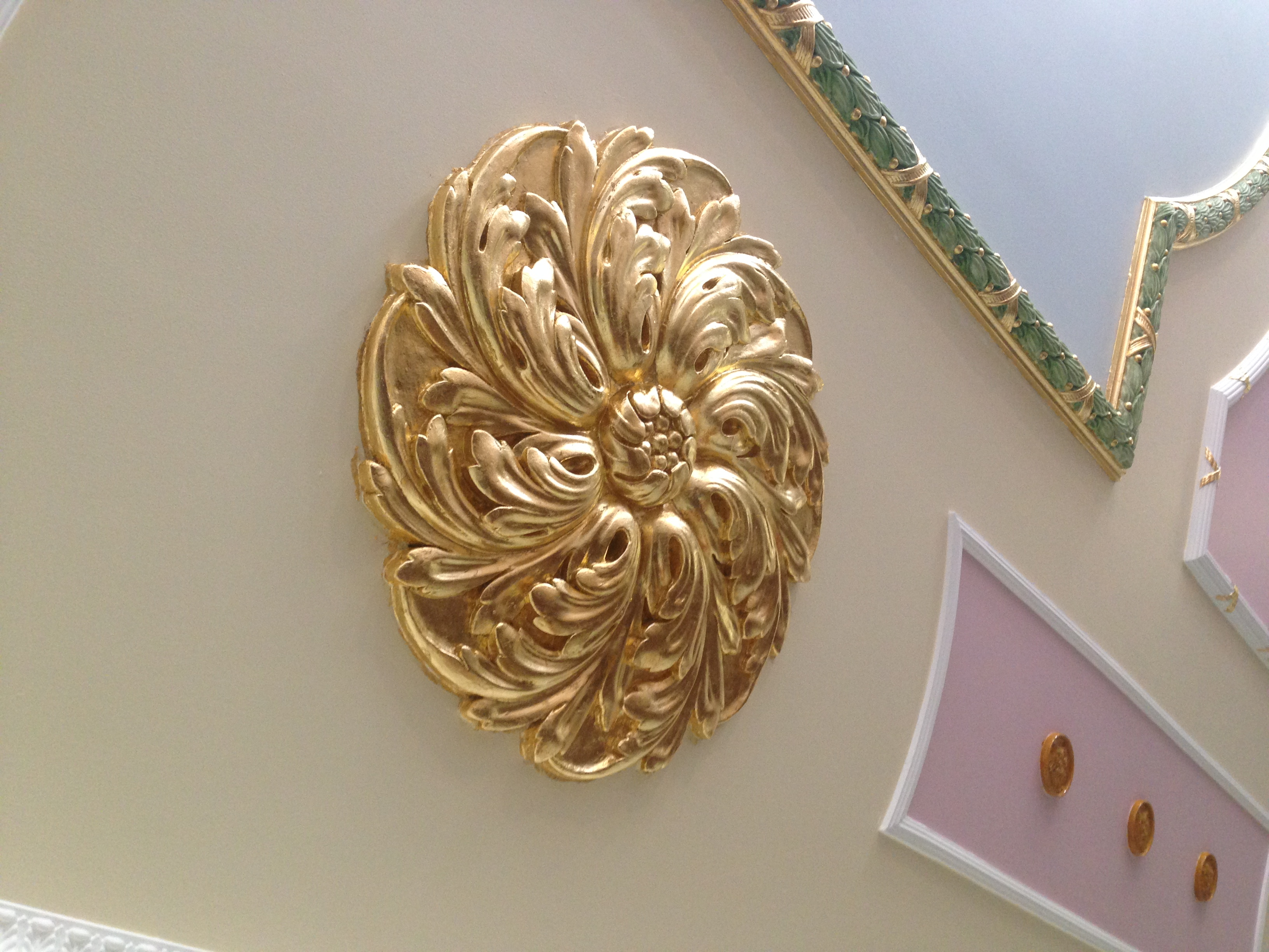 Gilded Ceiling Rose
