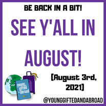 See Y'all  in August!