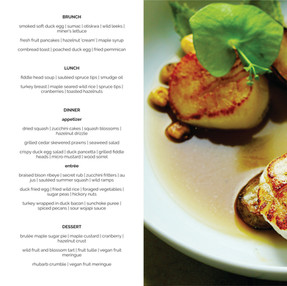 Spring 2019 menu sample