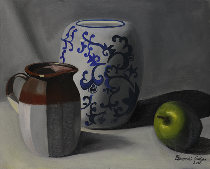 Apple and Ceramic Forms