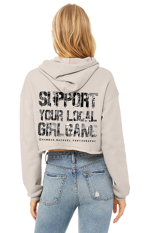 Support Cropped Hoodie -  Heather Dust