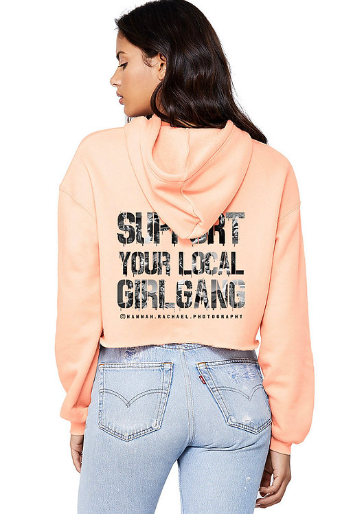 Support Crop Hoodie Colored