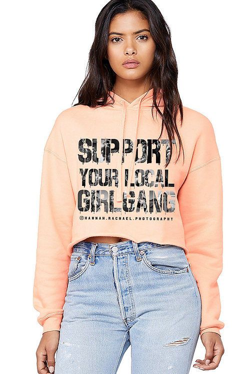 Colored Support Crop Hoodie