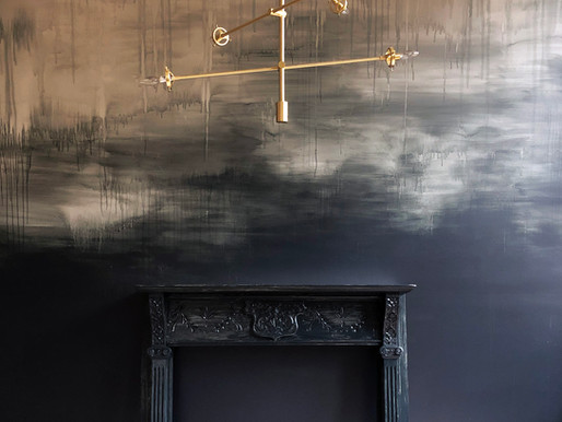 HOW TO :: Stormy Distressed Wall