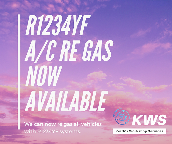 R1234YF a/c regas and recharge