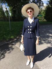 1930s style straw hat