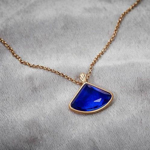 Art deco fan necklace