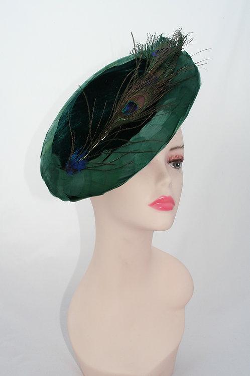 Emerald Green Velvet Tilt hat