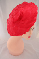 Red feather hat