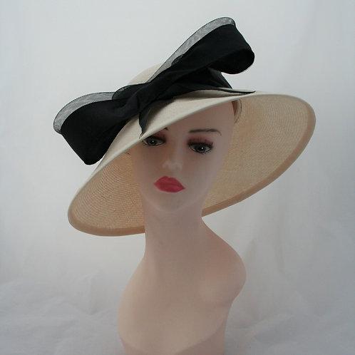 1950s Ivory Straw Hat