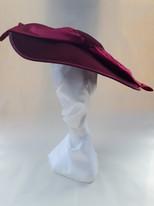 1940s style velvet hat
