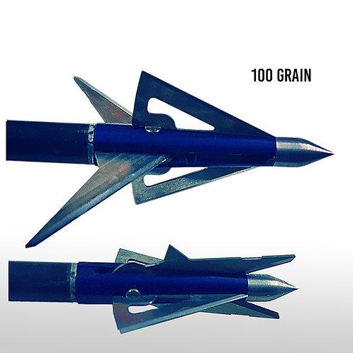100 Grain Bi-Polar All Season Broadhead (Blue)