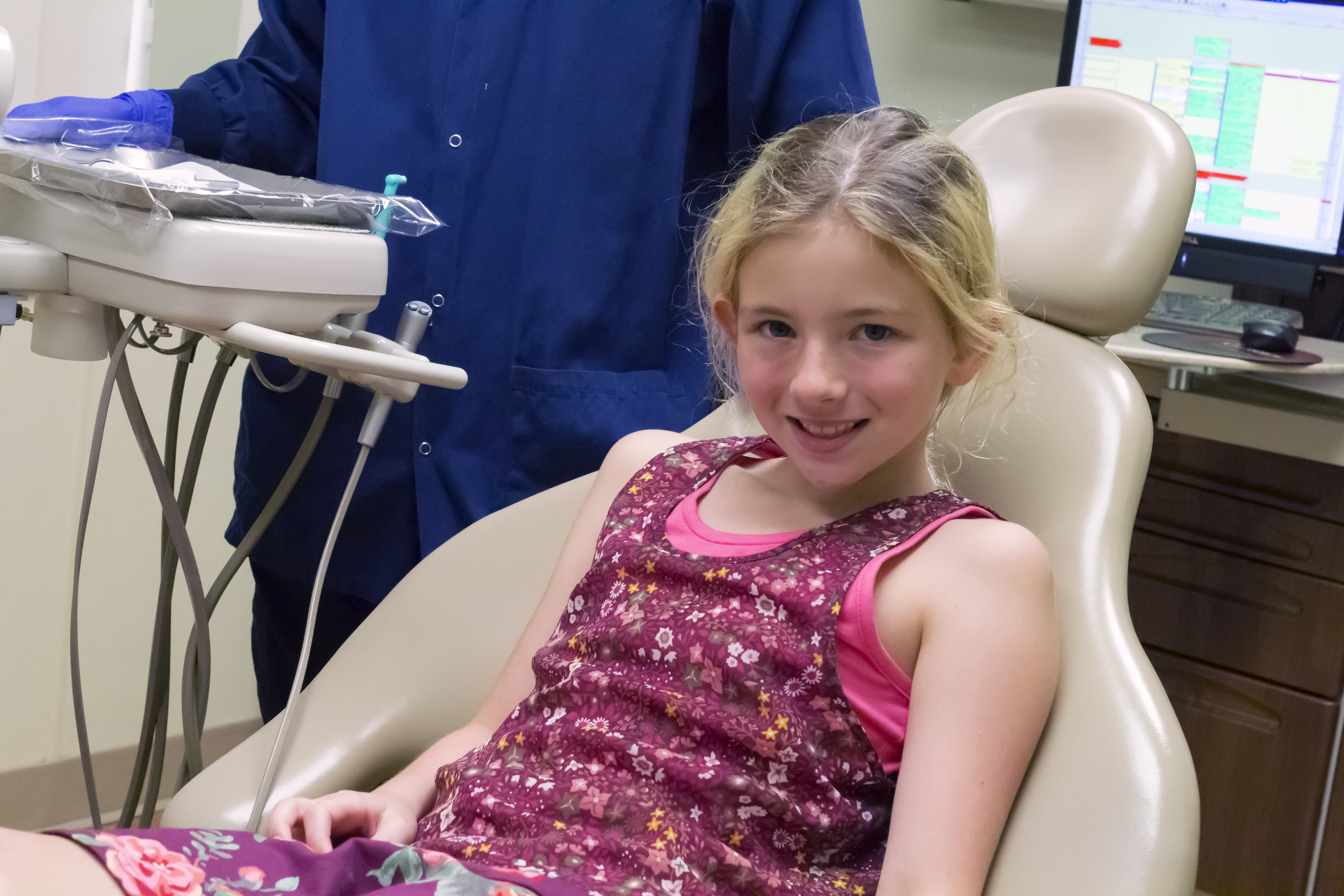 Young Girl in NA Dental Chair