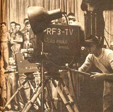 Inauguração da TV Tupi contou com três câmeras. Uma delas falhou