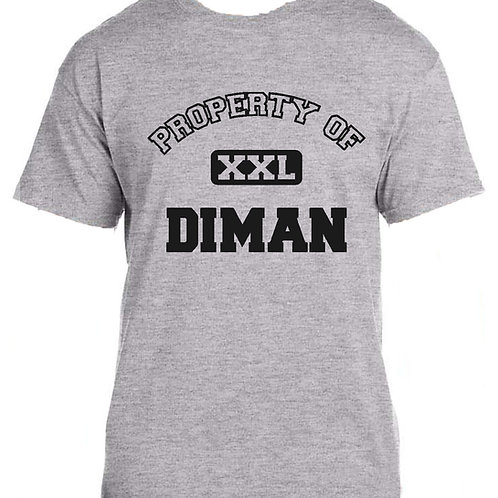 Tee Shirt with Property of Diman