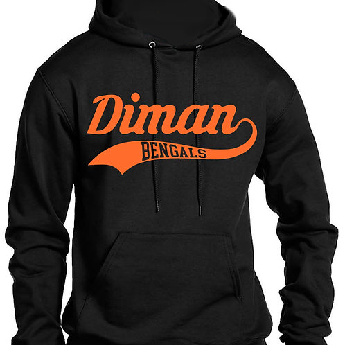 Sweatshirt with Diman Swoosh in Orange