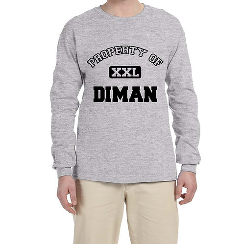 Long-Sleeve T-Shirt with Property of Diman