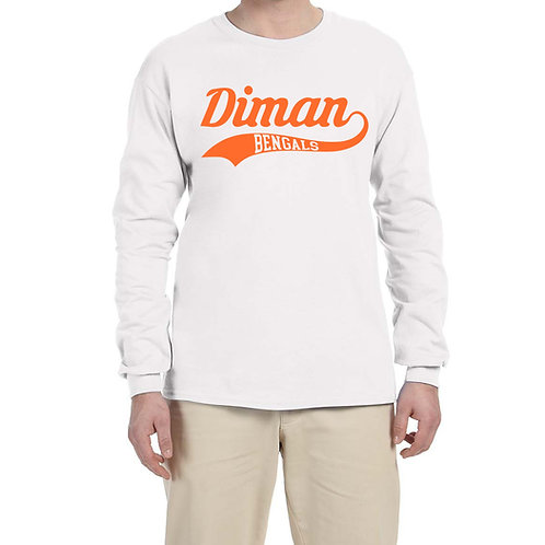 Long-Sleeve T-Shirt with swoosh in Orange