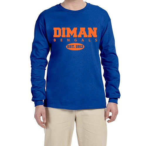 Long-Sleeve T-Shirt with Est. 1912 in orange