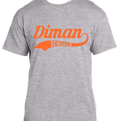Tee shirts with Diman Swoosh in orange