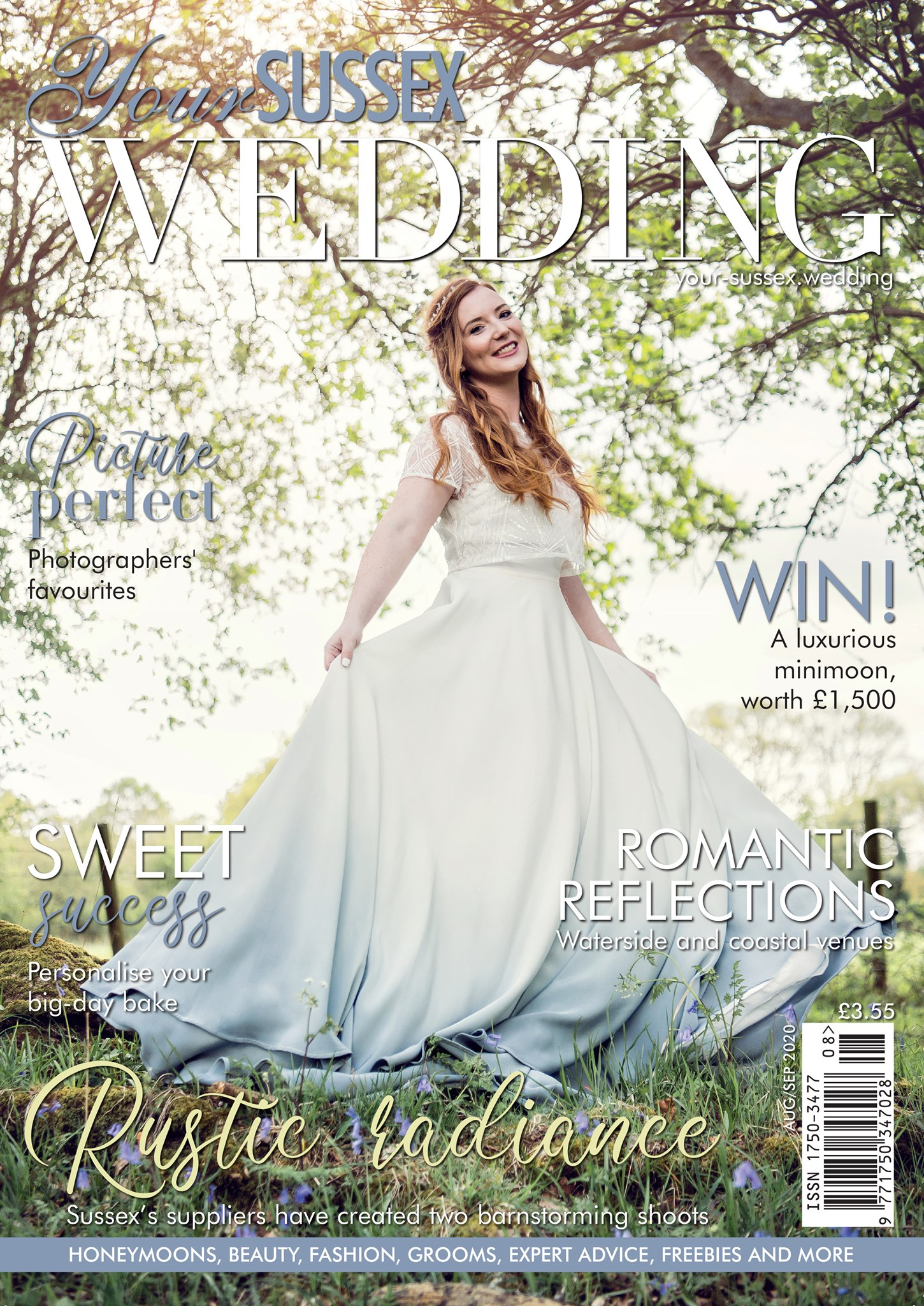 Cover Photo on Your Sussex Wedding Magazine Aug/Sept 2020 issue